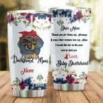 Personalized Dachshund Mom Thank Your For Being My Mommy Stainless Steel Tumbler Perfect Gifts For Dachshund Lover Tumbler Cups For Coffee/Tea, Great Customized Gifts For Birthday Christmas Thanksgiving