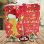 Personalized Gecko We Wish A Merry Christmas To You And Your Family Stainless Steel Tumbler, Tumbler Cups For Coffee/Tea, Great Customized Gifts For Birthday Christmas Thanksgiving