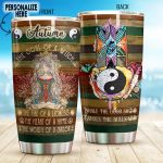 Personalized Yoga Hamsa Hand Inhale The Good Shit Stainless Steel Tumbler Perfect Gifts For Yoga Lover Tumbler Cups For Coffee/Tea, Great Customized Gifts For Birthday Christmas Thanksgiving