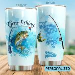 Personalized Fishing Gone Fishing Keep It Reel Stainless Steel Tumbler Perfect Gifts For Fishing Lover Tumbler Cups For Coffee/Tea, Great Customized Gifts For Birthday Christmas Thanksgiving