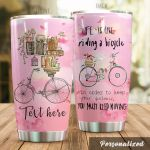Personalized Cycling Life Is Like Riding A Bicycle Stainless Steel Tumbler Perfect Gifts For Cycling Lover Tumbler Cups For Coffee/Tea, Great Customized Gifts For Birthday Christmas Thanksgiving