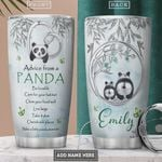 Personalized Advice From A Panda Be Lovable Chew Your Food Well Live Large Take It Slow Stainless Steel Tumbler, Tumbler Cups For Coffee/Tea, Great Customized Gifts For Birthday Christmas Thanksgiving