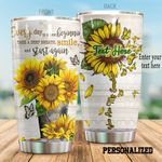 Personalized Butterfly And Sunflower Take A Deep Breath Stainless Steel Tumbler Perfect Gifts For Butterfly Lover Tumbler Cups For Coffee/Tea, Great Customized Gifts For Birthday Christmas Thanksgiving