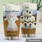Personalized Sorry For What I Said When We Were Working Sheep Stainless Steel Tumbler, Tumbler Cups For Coffee/Tea, Great Customized Gifts For Birthday Christmas Thanksgiving