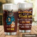 Personalized Beer Cat I'm Not Alcoholic Stainless Steel Tumbler Perfect Gifts For Beer Lover Tumbler Cups For Coffee/Tea, Great Customized Gifts For Birthday Christmas Thanksgiving