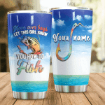 Personalized Fishing Girl Show You How To Fish Stainless Steel Tumbler Perfect Gifts For Fishing Lover Tumbler Cups For Coffee/Tea, Great Customized Gifts For Birthday Christmas Thanksgiving