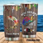Personalized Fishing Girl Let This Girl Show You How To Fish Stainless Steel Tumbler Perfect Gifts For Fishing Lover Tumbler Cups For Coffee/Tea, Great Customized Gifts For Birthday Christmas Thanksgiving