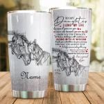 Personalized Horse To My Daughter From Mom I Love My Life Stainless Steel Tumbler Perfect Gifts For Horse Lover Tumbler Cups For Coffee/Tea, Great Customized Gifts For Birthday Christmas Thanksgiving