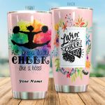 Personalized Cheerleading Act Like A Lady Cheer Like A Boss Stainless Steel Tumbler Perfect Gifts For Cheerleading Lover Tumbler Cups For Coffee/Tea, Great Customized Gifts For Birthday Christmas Thanksgiving