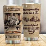Weimaraner Easily Distracted by Books and Weimaraner Stainless Steel Tumbler Perfect Gifts For Dog Lover Tumbler Cups For Coffee/Tea, Great Customized Gifts For Birthday Christmas Thanksgiving