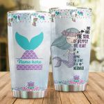 Personalized Adorable Mermaid She Has The Soul Of A Gypsy Stainless Steel Tumbler Perfect Gifts For Mermaid Lover Tumbler Cups For Coffee/Tea, Great Customized Gifts For Birthday Christmas Thanksgiving