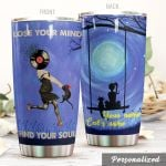 Personalized Moon And Cat Lose Your Mind Find Your Soul Stainless Steel Tumbler Perfect Gifts For Cat Lover Tumbler Cups For Coffee/Tea, Great Customized Gifts For Birthday Christmas Thanksgiving