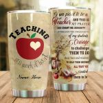 Personalized Teacher And Apple God Grant Me The Serenity Stainless Steel Tumbler Perfect Gifts For Teacher Tumbler Cups For Coffee/Tea, Great Customized Gifts For Birthday Christmas Thanksgiving