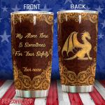 Personalized Dragon Pattern My Alone Time Is Sometimes For Your Safety Stainless Steel Tumbler Perfect Gifts For Dragon Lover Tumbler Cups For Coffee/Tea, Great Customized Gifts For Birthday Christmas Thanksgiving