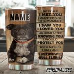 Personalized Staffordshire Terrier Dog I Would Protect You With My Life Stainless Steel Tumbler Perfect Gifts For Dog Lover Tumbler Cups For Coffee/Tea, Great Customized Gifts For Birthday Christmas Thanksgiving