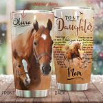 Personalized Horse Family To My Daughter From Mom Follow Your Dream Stainless Steel Tumbler Perfect Gifts For Horse Lover Tumbler Cups For Coffee/Tea, Great Customized Gifts For Birthday Christmas Thanksgiving