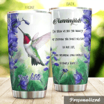 Personalized Hummingbird In Them We See The Beauty Stainless Steel Tumbler Perfect Gifts For Hummingbird Lover Tumbler Cups For Coffee/Tea, Great Customized Gifts For Birthday Christmas Thanksgiving