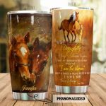 Personalized To My Daughter From Mom Love You Forever And Always Stainless Steel Tumbler Tumbler Cups For Coffee/Tea Perfect Customized Gifts For Birthday Christmas Thanksgiving Awesome Gifts For Horse Lovers