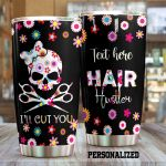 Personalized Hair Hustle I'll Cut You Stainless Steel Tumbler Tumbler Cups For Coffee/Tea Meaningful Customized Gifts For Birthday Christmas Thanksgiving Awesome Gifts For Hair Stylist