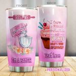 Personalized Baking Turn Eggs And Flour Into Cupcake Stainless Steel Tumbler Perfect Gifts For Baking Lover Tumbler Cups For Coffee/Tea, Great Customized Gifts For Birthday Christmas Thanksgiving