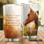 Personalized Horse The Horse Is A Mirror To Your Soul Stainless Steel Tumbler Perfect Gifts For Horse Lover Tumbler Cups For Coffee/Tea, Great Customized Gifts For Birthday Christmas Thanksgiving