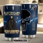 Personalized Lightning Electricians Were Created Because Engineers Need Heroes Too Stainless Steel Tumbler Perfect Gifts For Electrician Tumbler Cups For Coffee/Tea, Great Customized Gifts For Birthday Christmas Thanksgiving