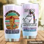 .Personalized Unicorn I'll Do What I Want Stainless Steel Tumbler Perfect Gifts For Unicorn Lover Tumbler Cups For Coffee/Tea, Great Customized Gifts For Birthday Christmas Thanksgiving