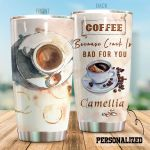 Personalized Coffee Because Crack Is Bad For You Stainless Steel Tumbler Perfect Gifts For Coffee Lover Tumbler Cups For Coffee/Tea, Great Customized Gifts For Birthday Christmas Thanksgiving