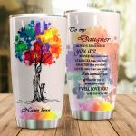 Personalized Family To My Daughter From Parent I Will Love You To The End Of My Life Stainless Steel Tumbler Perfect Gifts For Family Lover Tumbler Cups For Coffee/Tea, Great Customized Gifts For Birthday Christmas Thanksgiving