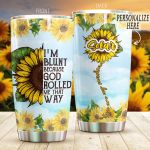 Personalized Sunflower God Rolled Me That Way You Are My Sunshine Stainless Steel Tumbler Perfect Gifts For Sunflower Lover Tumbler Cups For Coffee/Tea, Great Customized Gifts For Birthday Christmas Thanksgiving