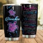 Personalized Turtle To My Daughter From Mom Find Something Good In Everyday Stainless Steel Tumbler Perfect Gifts For Turtle Lover Tumbler Cups For Coffee/Tea, Great Customized Gifts For Birthday Christmas Thanksgiving