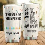 Personalized Vet Technician The Vein Whisper Stainless Steel Tumbler Perfect Gifts For Vet Technician Tumbler Cups For Coffee/Tea, Great Customized Gifts For Birthday Christmas Thanksgiving