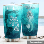 Personalized Mermaid Wild Salt Air Stainless Steel Tumbler Perfect Gifts For Mermaid Lover Tumbler Cups For Coffee/Tea, Great Customized Gifts For Birthday Christmas Thanksgiving