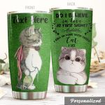 Personalized Lovely Cat Do I Believe In Love At First Sight Stainless Steel Tumbler Perfect Gifts For Cat Lover Tumbler Cups For Coffee/Tea, Great Customized Gifts For Birthday Christmas Thanksgiving