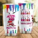 Personalized Nail Artist Life Is Too Short Stainless Steel Tumbler Perfect Gifts For Nail Artist Tumbler Cups For Coffee/Tea, Great Customized Gifts For Birthday Christmas Thanksgiving