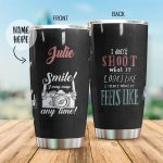 Personalized Photographer I Shoot What It Feels Like Stainless Steel Tumbler Perfect Gifts For Photographer Lover Tumbler Cups For Coffee/Tea, Great Customized Gifts For Birthday Christmas Thanksgiving