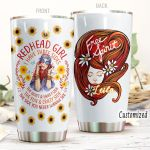 Personalized Redhead Free Spirit Stainless Steel Tumbler Tumbler Cups For Coffee/Tea Great Customized Gifts For Birthday Christmas Thanksgiving Perfect Gifts For Redhead Lovers