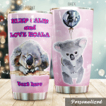 Personalized Lovely Koala Keep Calm And Love Stainless Steel Tumbler Tumbler Cups For Coffee/Tea Perfect Customized Gifts For Birthday Christmas Thanksgiving Awesome Gifts For Koala Lovers