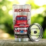 Personalized Red Truck To My Dad So Much Of Me  20 Oz Tumbler Cup For Coffee/Tea Stainless Tumbler Cup For Driver Father, Father's Day Thanksgiving Birthday From Daughter/Son To Father