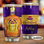 Personalized Crown Royal Canadian Whisky Stainless Steel Tumbler W Lid 20oz