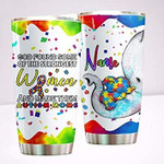 Personalized Autism Mom God Found Some Of The Strongest Woman Stainless Steel Tumbler Gifts For Autism Mom Tumbler Cups For Coffee/Tea, Customized Gifts For Birthday Christmas Father's Mother's Day
