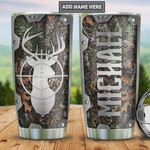 Personalized Deer Hunter Stainless Steel Vacuum Insulated, 20 Oz Tumbler Cups For Coffee/Tea, Great Customized Gifts For Birthday Christmas Thanksgiving, Perfect Gifts For Deer Lovers