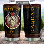 Personalized Odin God Son Of Odin Stainless Steel Tumbler, Tumbler Cups For Coffee/Tea, Great Customized Gifts For Birthday Christmas Thanksgiving
