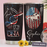 American Horse DNA Chain Personalized Tumbler Cup Stainless Steel Insulated Tumbler 20 Oz Great Gifts For Horse Lovers Best Gifts For Birthday Christmas Thanksgiving Coffee/ Tea Tumbler