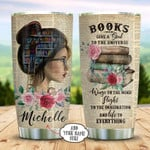 Girl Book Tumbler Cup, Book Give A Soul To The Universe, Stainless Steel Insulated Tumbler 20 Oz, Coffee/Tea Tumbler With Lid, Great Gifts For Girl On Birthday Christmas Thanksgiving
