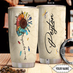 Personalized Hairstylist Sunflower Picture Tumbler Cup You Are My Sunshine Stainless Steel Insulated Tumbler 20 Oz Great Customized Gifts For Birthday Christmas Thanksgiving Coffee/ Tea Tumbler
