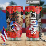 Personalized Puerto Rico Flag Tumbler Cup, Superman, Red Flowers, Stainless Steel Travel Tumbler, Insulated Tumbler, 20 Oz, Coffee Tumbler, Gifts For Birthday Christmas Thanksgiving