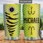 Personalized Fishing Lure Tumbler Cup Stainless Steel Insulated Tumbler 20 Oz Great Gifts For Fishing Lovers Best Gifts For Birthday Christmas Thanksgiving Tumbler For Travelling/ Camping