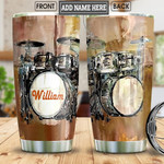 Personalized Art Of Drum Set Stainless Steel Tumbler, Tumbler Cups For Coffee/Tea, Great Customized Gifts For Birthday Christmas Thanksgiving