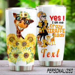 Personalized Giraffe I Am The Crazy Giraffe Lady Stainless Steel Tumbler, Tumbler Cups For Coffee/Tea, Great Customized Gifts For Birthday Christmas Thanksgiving
